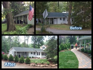 Hilltop Landscaping - 20 Fox Hill Road - Before and After