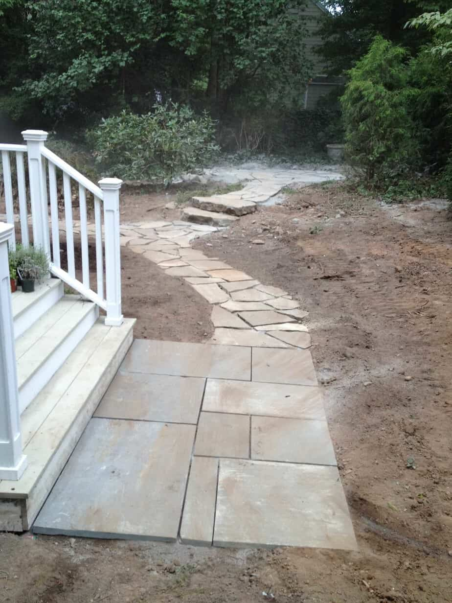 Residential Landscape Cleanup and New Stone Walks