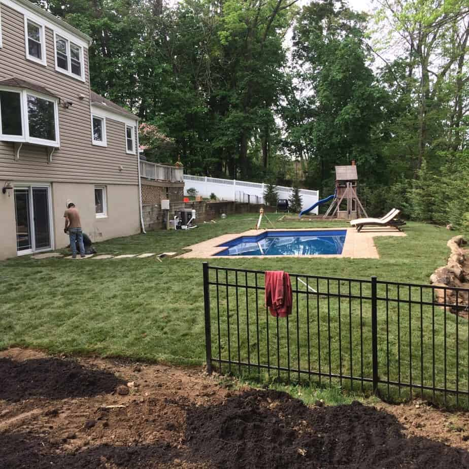 Pool & Yard Landscaping 1 Day makeover in Whippany New Jersey